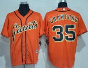 Wholesale Cheap Giants #35 Brandon Crawford Orange New Cool Base Alternate Stitched MLB Jersey