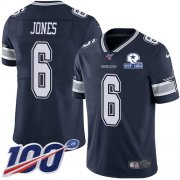 Wholesale Cheap Nike Cowboys #6 Chris Jones Navy Blue Team Color Men's Stitched With Established In 1960 Patch NFL 100th Season Vapor Untouchable Limited Jersey