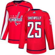 Wholesale Cheap Adidas Capitals #25 Devante Smith-Pelly Red Home Authentic Stitched NHL Jersey