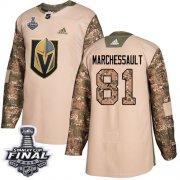 Wholesale Cheap Adidas Golden Knights #81 Jonathan Marchessault Camo Authentic 2017 Veterans Day 2018 Stanley Cup Final Stitched NHL Jersey