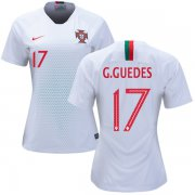 Wholesale Cheap Women's Portugal #17 G.Guedes Away Soccer Country Jersey