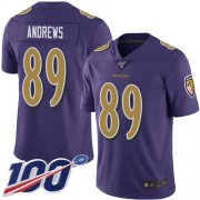 Wholesale Cheap Nike Ravens #89 Mark Andrews Purple Men's Stitched NFL Limited Rush 100th Season Jersey