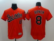 Wholesale Cheap Orioles #8 Cal Ripken Orange Flexbase Authentic Collection Stitched MLB Jersey