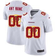 Wholesale Cheap Washington Redskins Custom White Men's Nike Team Logo Dual Overlap Limited NFL Jersey