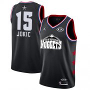 Wholesale Cheap Nuggets #15 Nikola Jokic Black Basketball Jordan Swingman 2019 All-Star Game Jersey