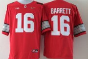 Wholesale Cheap Ohio State Buckeyes #16 J.T. Barrett 2015 Playoff Rose Bowl Special Event Diamond Quest Red Jersey