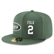 Wholesale Cheap New York Jets #2 Nick Folk Snapback Cap NFL Player Green with White Number Stitched Hat