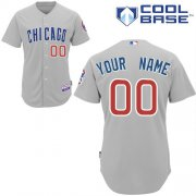 Wholesale Cheap Cubs Personalized Authentic Grey MLB Jersey (S-3XL)