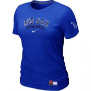 Wholesale Cheap Women's Boston Red Sox Nike Short Sleeve Practice MLB T-Shirt Blue