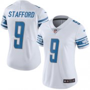 Wholesale Cheap Nike Lions #9 Matthew Stafford White Women's Stitched NFL Vapor Untouchable Limited Jersey