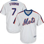 Wholesale Cheap Mets #7 Marcus Stroman White(Blue Strip) New Cool Base Alternate Stitched MLB Jersey