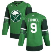 Wholesale Cheap Buffalo Sabres #9 Jack Eichel Men's Adidas 2020 St. Patrick's Day Stitched NHL Jersey Green.jpg