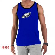 Wholesale Cheap Men's Nike NFL Philadelphia Eagles Sideline Legend Authentic Logo Tank Top Blue