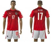 Wholesale Cheap Austria #17 Klein Red Home Soccer Country Jersey