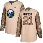 Wholesale Cheap Adidas Sabres #21 Kyle Okposo Camo Authentic 2017 Veterans Day Youth Stitched NHL Jersey