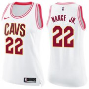 Wholesale Cheap Nike Cleveland Cavaliers #22 Larry Nance Jr. White Pink Women's NBA Swingman Fashion Jersey