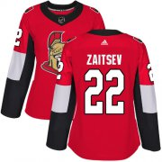 Wholesale Cheap Adidas Senators #22 Nikita Zaitsev Red Home Authentic Women's Stitched NHL Jersey