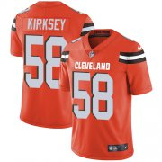 Wholesale Cheap Nike Browns #58 Christian Kirksey Orange Alternate Youth Stitched NFL Vapor Untouchable Limited Jersey