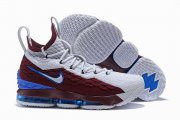 Wholesale Cheap Nike Lebron James 15 Air Cushion Shoes ACG Blendent Wine Red White Blue