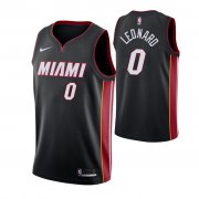 Wholesale Cheap Nike Heat #0 Meyers Leonard Icon Edition Men's Black NBA Jersey