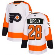 Wholesale Cheap Adidas Flyers #28 Claude Giroux White Road Authentic Stitched NHL Jersey