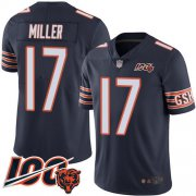 Wholesale Cheap Nike Bears #17 Anthony Miller Navy Blue Team Color Men's Stitched NFL 100th Season Vapor Limited Jersey