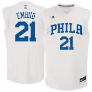 Wholesale Cheap Philadelphia 76ers #21 Joel Embiid White Chase Fashion Replica Jersey