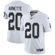 Wholesale Cheap Nike Raiders #20 Damon Arnette White Men's Stitched NFL Vapor Untouchable Limited Jersey