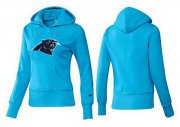 Wholesale Cheap Women's Carolina Panthers Logo Pullover Hoodie Blue