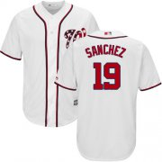 Wholesale Cheap Nationals #19 Anibal Sanchez White New Cool Base Stitched Youth MLB Jersey