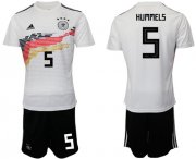 Wholesale Cheap Germany #5 Hummels White Home Soccer Country Jersey