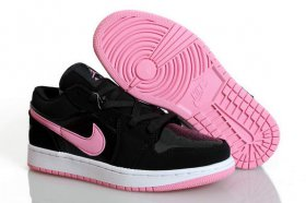 Wholesale Cheap Womens Air Jordan 1 Retro Shoes Black/pink