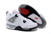 Wholesale Cheap Kids Air Jordan 4 Shoes White/gray-red-black