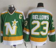 Wholesale Cheap Stars #23 Brian Bellows Stitched Green CCM Throwback NHL Jersey
