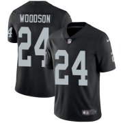 Wholesale Cheap Nike Raiders #24 Charles Woodson Black Team Color Youth Stitched NFL Vapor Untouchable Limited Jersey
