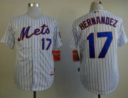 Wholesale Cheap Mets #17 Keith Hernandez White(Blue Strip) Home Cool Base Stitched MLB Jersey