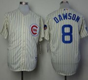 Wholesale Cheap Cubs #8 Andre Dawson Cream 1969 Turn Back The Clock Stitched MLB Jersey