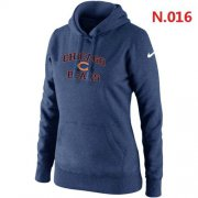 Wholesale Cheap Women's Nike Chicago Bears Heart & Soul Pullover Hoodie Dark Blue