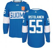 Wholesale Cheap Team Finland #55 Rasmus Ristolainen Blue 2016 World Cup Stitched NHL Jersey