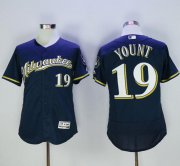 Wholesale Cheap Brewers #19 Robin Yount Navy Blue Flexbase Authentic Collection Stitched MLB Jersey