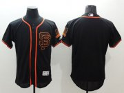 Wholesale Cheap Giants Blank Black Flexbase Authentic Collection Alternate Stitched MLB Jersey