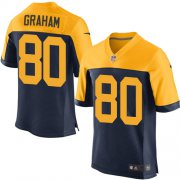 Wholesale Cheap Nike Packers #80 Jimmy Graham Navy Blue Alternate Men's Stitched NFL New Elite Jersey