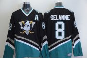 Wholesale Cheap Ducks #8 Teemu Selanne Black CCM Throwback Stitched NHL Jersey