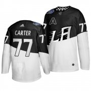 Wholesale Cheap Adidas Los Angeles Kings #77 Jeff Carter Men's 2020 Stadium Series White Black Stitched NHL Jersey