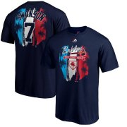 Wholesale Cheap Atlanta Braves #7 Dansby Swanson Atlanta Braves Majestic 2019 Spring Training Name & Number T-Shirt Navy