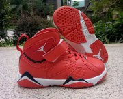 Wholesale Cheap Kid's Air Jordan 7 Shoes Red/Black-White