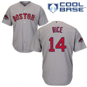 Wholesale Cheap Red Sox #14 Jim Rice Grey Cool Base 2018 World Series Stitched Youth MLB Jersey