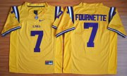 Wholesale Cheap LSU Tigers #7 Fournette Gold 2015 College Football Nike Limited Jersey