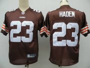 Wholesale Cheap Browns #23 Joe Haden Brown Stitched NFL Jersey
