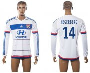 Wholesale Cheap Lyon #14 Hegerberg Home Long Sleeves Soccer Club Jersey